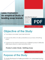 Bb223f1667b852f77c6359dab6cdfd58 Role of Sales Promotion an Empirical Study of Leading Soap Brands