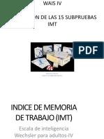 IMT WAIS IV