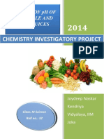 314238562 Chemistry Project PH Analysis of Fruits