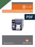 PRINTER Datamax Parts Catalog - I-Class Mk I (92-2506-01 Rev G)
