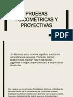 Pruebas Psicométricas y Proyectivas