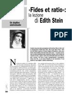 9a. M. Porta-E. STEIN & La Fides Et Ratio