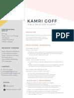 kamri goff resume 2020