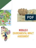 Module-5 Envirionmental Impact Assessment Dr. Saravanakumar Evs Chy1002 265afbf2a2188e6562ddfa90b5cf96f5
