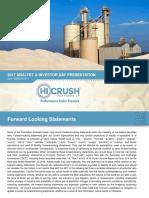 Hi-Crush 2017 Analyst & Investor Day Presentation
