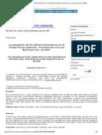 La Regulación de Los Delitos Informáticos en El Código Penal Argentino_ Introducción a La Ley Nacional Núm. 26