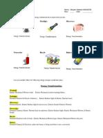 energy transformation worksheet 2