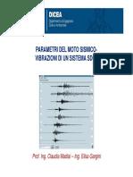 12b Parametri Del Moto Sismico-Vibrazioni SDOF