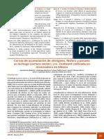 Curvas de acumulación de nitrógeno, fósforo y potasio en lechuga (Lactuca sativa L.) cv. Coolward cultivada en invernadero en México