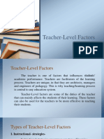 Teacher Level Factors