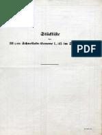 Stückliste der 38 cm Schnellade - Kanone L/45 im Schießgerüst