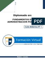 FUNDAMENTOS DE LA ADMINISTRACIÓN PUBLICA