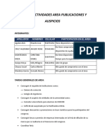 Informe Actividades Area Publicaciones y Auspicios