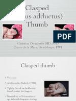 Clasped Thumb