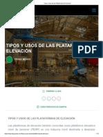 PROSIC_Tipos de Plataformas de Elevación