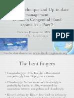 Common Congenital Hand Anomalies-Qatar- Part 2