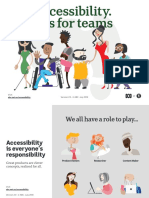 Accessibility tips for teams