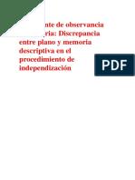 Precedente de Observancia Obligatoria SUNARP Plano Mem DEsc