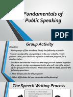Fundamentals of Public Speaking Lesson 2