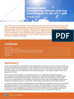 TECHNICAL BRIEF Considering climate-altering technologies in the IPCC AR6