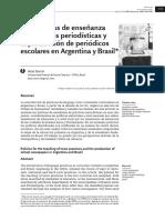 Bonini Adair - Las Políticas de Enseñanza de Prácticas Periodísticas y La Producción de Periódicos Escolares en Argentina y Brasil