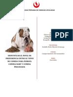 NIVEL DE PREFERENCIA ENTRE 02 TIPOS DE COMIDA PARA PERROS