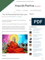 Test de Personalidad Del Dalai Lama - Ley de La Atracción Positiva