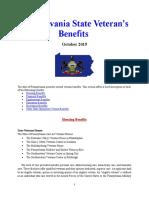 Vet State Benefits - PA 2019