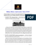 Military History Anniversaries 1101 Thru 111518