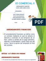 ARRENDAMIENTO FINANCIERO  DIAPOSITIVAS