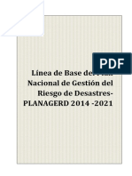Linea Base para Plan de Gestion de Riesgos de Desastres