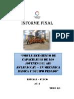 INFORME FINAL Mecanica Basica de Equipo Pesado