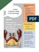 Crabby Idiom Classroom Poster