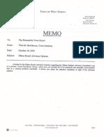 Advisory Opinion of the West Seneca Ethics Board