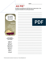 Easy as Pie Idiom Writing Activity