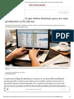 Fórmulas de Excel Que Debes Dominar Para Ser Más Productivo en La Oficina _ Tecnología _ Gestión