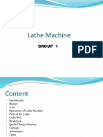 Group 1 Lathe Machine