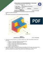 Engineering Graphics - Unit Test - Set A