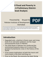 Flood and Poverty in Pakistan