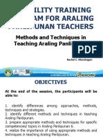 Methods and Techniques in Teaching Araling Panlipunan
