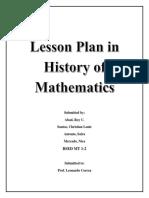 History in Mathematics Roy