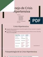 Manejo de la crisis hipertensiva en adultos