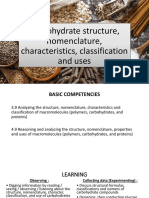 Carbohydrate Structure, Nomenclature, Characteristics, Classification