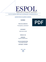Informe 2 Termoquimica y Calorimetria