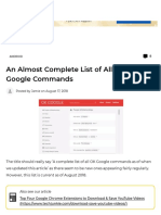 An Almost Complete List of All Okay Google Commands