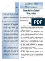 Air New Zeeland Information by Farecopy.com