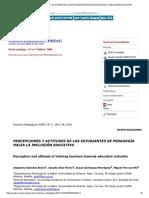 PERCEPCIONES Y ACTITUDES DE LOS EST PEDAGOGÍA HACIA LA INCLUSIÓN EDUCATIVA