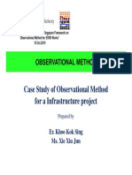 03_Case Studies of Observation Method for a Infrastructure Project