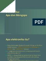 Bab 0 Pendahuluan Elektronika
