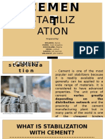 Cement and Fly-Ash Stabilization